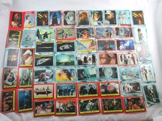 1980 1983 Vintage Star Wars Trading Cards LOT or 57 ROTJ ESB Luke Jabba C-3P0 30 Empire Strikes Back (ESB) 4 ESB Starcraft 1 Star Wars Movie Facts 2 ESB Movie Facts 16 Return of the Jedi 1 Star File Luke Skywalker 1 Kelloggs Star Wars C-3PO 2 Sticker cards  55 Trading cards (only 3 are duplicates)  57 total (including the stickers)   Dates range 1980 - 1983 (I didn't check dates on all of them)  Lucas Films Some are Topps. 1 Kelloggs.