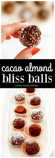 This easy recipe makes the best chocolate bliss balls! Made with dates, nuts, cacao, and hemp seeds, these healthier treats are vegan, gluten-free, and paleo. I love these for food prep days! #vegan #glutenfree #blissballs #plantbased