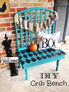 I have a crib in the basement that both kids used. I wonder if I would ever actually get around to doing something like this? @RoubinekReality DIY Crib Bench