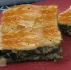 Favorite Recipes for the Lenten Season: Spinach (or Greens) & Herb Pie without Cheese - Spanakopita