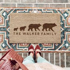 The perfect family gift! Order now in time for delivery this weekend! + Free UK shipping on all orders! Family Gifts, Couple Gifts, Bear Images, Coir Doormat, New Home Gifts, Free Uk, Gifts For Him, House Warming, Home And Family