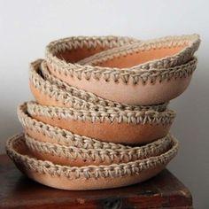leather and crochet ♡ Teresa Restegui http://www.pinterest.com/teretegui/ ♡
