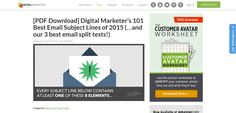 Digital Marketer - Best Email Subject Lines