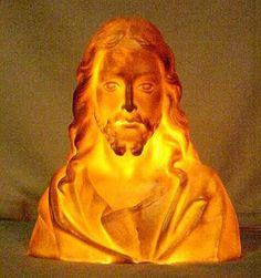 glowing jesus light