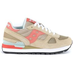 Saucony Sneakers ($115) ❤ liked on Polyvore featuring shoes, sneakers, beige, saucony shoes, saucony trainers, beige shoes, saucony and beige sneakers