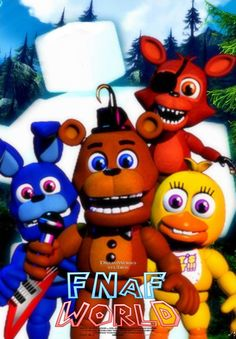 FNAF WORLD - Movie Poster With Scott Cawthon by BlueWolfAvenger on DeviantArt