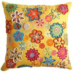 Floral embroidered pillow. I am on the hunt for some pillows, in case you hadn't noticed.