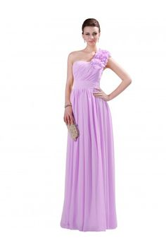 Grace Karin One Shoulder Chiffon Bridesmaid Ball Gown Evening Prom Party Dress