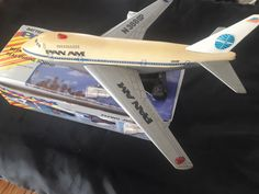 Vintage Pan Am Flying Jet Plane Battery Operated Toy