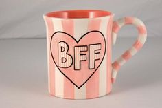 BFF mug Bisque Pottery, Paint Your Own Pottery, Presents For Friends, Friends Day, Pottery Painting, Mug Cup, Bff, Coffee Mugs, Cups