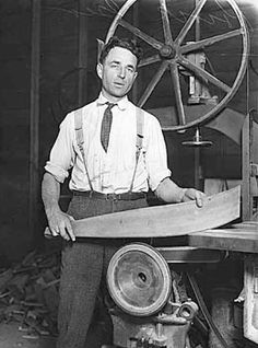 HistoryLink.org- George Pocock working in ASUW shellhouse, seattle, ca. 1928