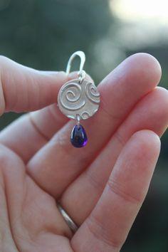 Silver swirl earrings sterling silver by littlesilverhedgehog