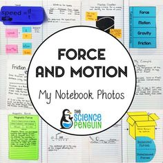 Force and Motion Interactive Science Notebook Photos: see pics from a teacher's notebook