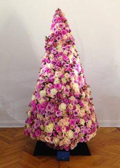 Pink creative Christmas tree designs