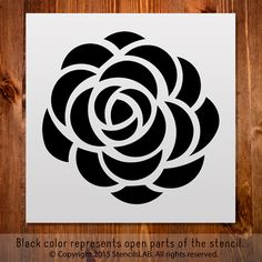 Flower Stencil. Small Stencil for DIY projects.                                                                                                                                                                                 More