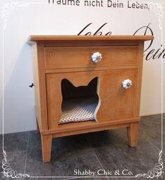 Schlafhaus für Katze im Landhausstil von Shabby Chic & Co. auf DaWanda.com