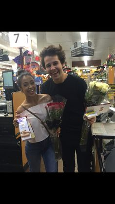 They ran into each other while buying each other Valentines Day gifts