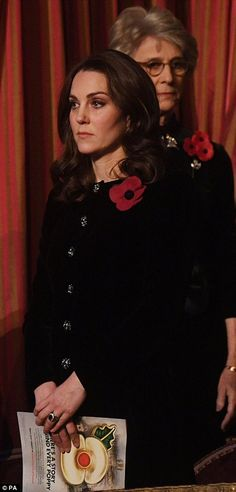 The Duchess of Cambridge attends the annual Royal Festival of Remembrance