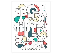 GEOMETRIES. #MarcPe. Impresión digital sobre papel texturado Hahnemüle, firmada y seriada, 40x30cm. 30€ #print #dibujovectorial #vectordrawing #ilustration #ilustracion #Barcelona #Art