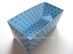 Origami Baggi Box (I just used this set of instructions and another to organize my junk drawer for free!  Wahoo!)