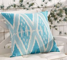 Outdoor Corina Print Pillow | Pottery Barn s39.50