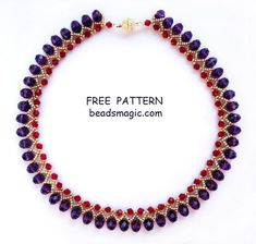 Free pattern for necklace Nino | Beads Magic