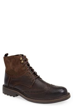 Free shipping and returns on Robert Wayne 'Lino' Wingtip Boot (Men) at Nordstrom.com. Panels of suede and leather form a distressed wingtip boot packed with vintage appeal.