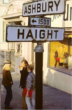 summer of love - 'Haight/Ashbury' in San Fransisco was a mecca for hippies and free life seekers in the late 60s