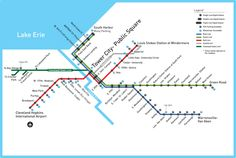 Official Map: Rapid Transit of Cleveland, Ohio, 2016