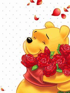 Animated Screensavers - Winnie The Pooh 8 Winnie The Pooh Pictures, Cute Winnie The Pooh, Winne The Pooh, Winnie The Pooh Quotes, Cellphone Wallpaper, Iphone Wallpaper, Animated Screensavers, Animated Gif, Pooh Bear