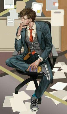 Manga boy love the details ❤️ Character Concept, Character Art, Concept Art, Illustration Mode, Character Illustration, Art Sketches, Art Drawings, Drawn Art, Estilo Anime
