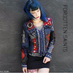 CUSTOM WOMENS ROCK AND ROLL JACKET. www.ForgottenSaintsLa.com eae8ecf7c79e6