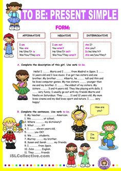 Verb to be: Simple Present.: