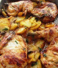 Se te va a hacer la boca agua con esta receta de pollo asado a la provenzal Fırın yemekleri Roast Recipes, Chicken Recipes, Cooking Recipes, Healthy Recipes, Pollo Recipe, Food Porn, Good Food, Yummy Food, Mexican Food Recipes