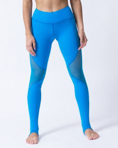 blue leggings canada fitgal Athletic Body, Pacific Blue, Intense Workout, Blue Leggings, Slim Body, Seamless Leggings, Going To The Gym, Black Mesh, Workout Leggings