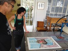 Printing of monotype Wilhelm Saayman Printmaking
