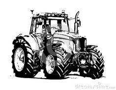 kleurplaat trekker zoeken kleurplaten tractor