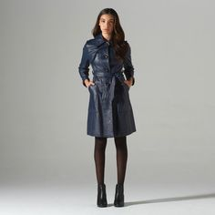 '80s Johnny Leather Trench now featured on Fab.