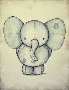 Cute Elephant Art Print