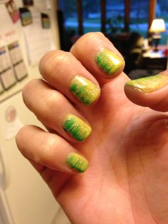 Green Bay Packer nails - All For Hair Color Trending Packer Nails, Football Nails, Dip Dye Nails, Nancy Nails, Hair Colour For Green Eyes, Green Bay Packers, Packers Baby, Seasonal Nails, Fancy Nancy