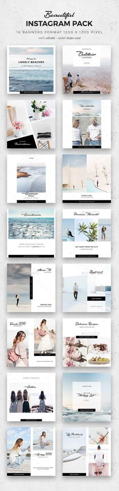 #Beautiful Instagram Pack - #Social #Media Web Elements