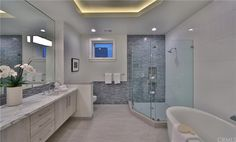 873 St, Manhattan Beach, CA 90266 - 5 baths California Real Estate, Shower Designs, Baths, Manhattan, Bathroom, House, Washroom, Home, Full Bath