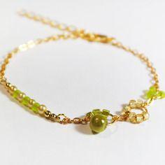 Bracelet couleur vert pomme