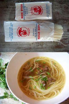 Pho – soupe vietnamienne au boeuf et aux nouilles
