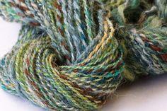 Hand Spun Alpaca / Wool Yarn by LaughingCoyoteFiber on Etsy, $18.00
