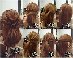 Lazy Hairstyles, Braided Hairstyles, Fries, Hair Dos, Prom Hair, Hair Inspiration, Beauty Hacks, Short Hair Styles, Hair Beauty