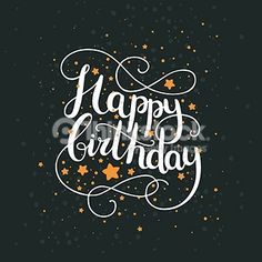 Birthday Quotes : Happy birthday card with hand drawn lettering and space background. Happy Birthday For Her, Happy Birthday Quotes, Happy Birthday Greetings, Happy Quotes, Husband Birthday, 30 Birthday, Birthday Ideas, Birthday Wishes And Images, Birthday Messages