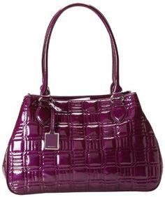 Nine West Show Stopper Medium Top Handle Bag, Violet, One Size Nine West