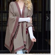 ️Oversized Slouchy  Boyfriend Mocha Poncho NWOT best selling poncho style will fit size Small through size XXXL . 100% acrylic . Easy to complete your look. Available in navy also . Vivacouture Sweaters