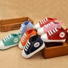712880770ab Newborn Canvas Classic Sports Sneakers Baby Boys Girls First Walkers Shoes Infant  Toddler Soft Sole Anti